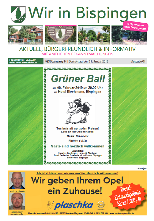 Titelblatt Ausgabe 1 2019