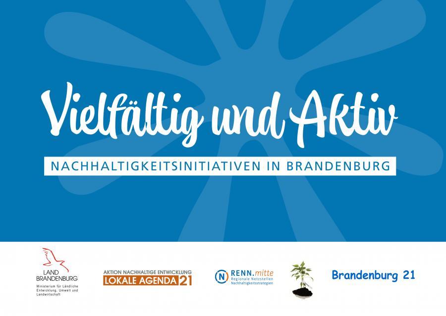 """Karte """"Aktiv und Vielfältig: Brandenburger Nachhaltigkeitsinitiativen"""""""