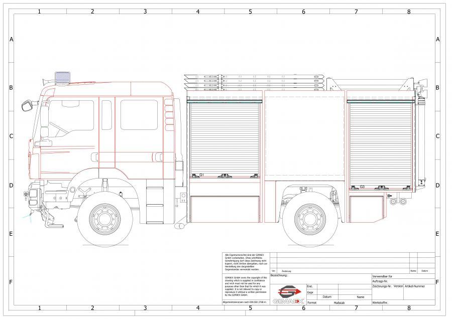 Skizze TLF 4000-ST, Quelle: Gimaex
