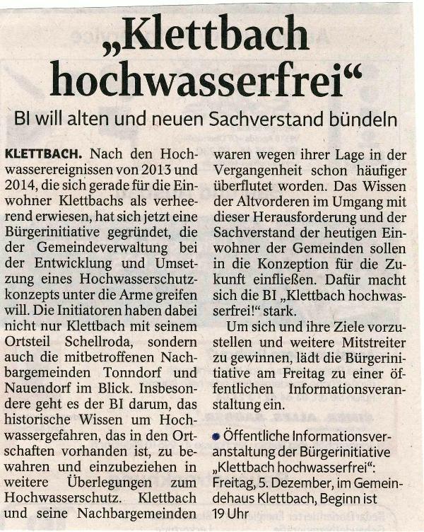 TLZ Weimar vom 02.12.2014