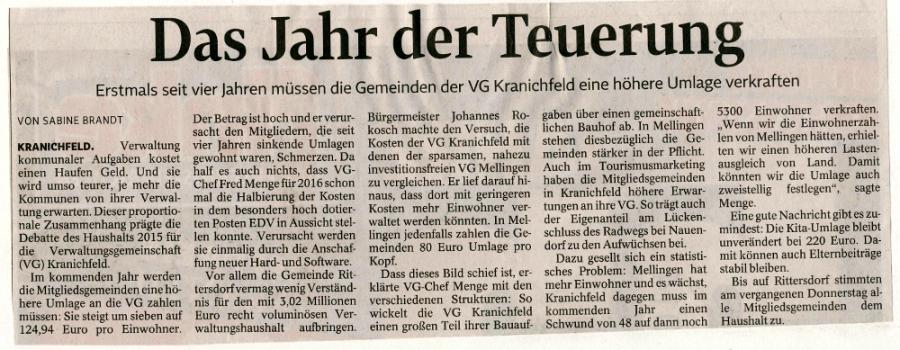 TLZ Weimar vom 06.12.2014