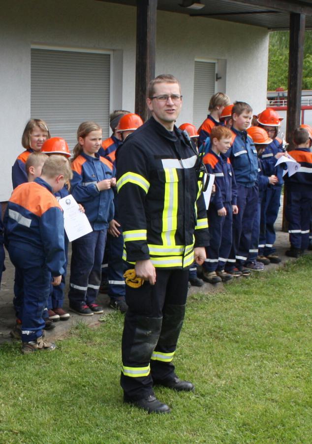 Ortsbrandmeister Tobias Marschall