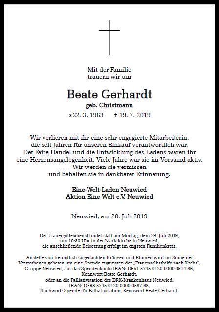 Todesanzeige Gerhardt 1