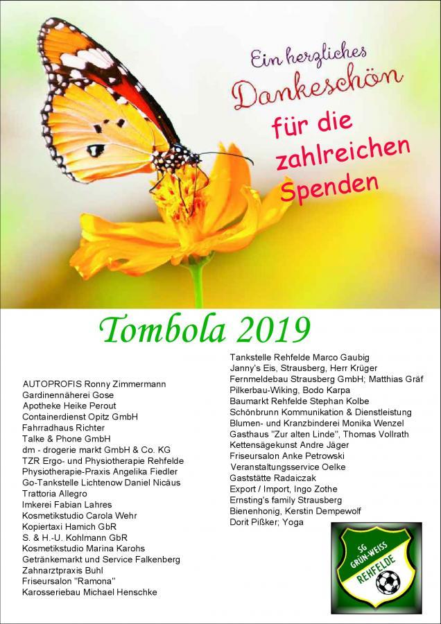 >> Sponsoren unserer Tombola 2019