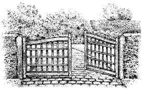 offenes Gartentor