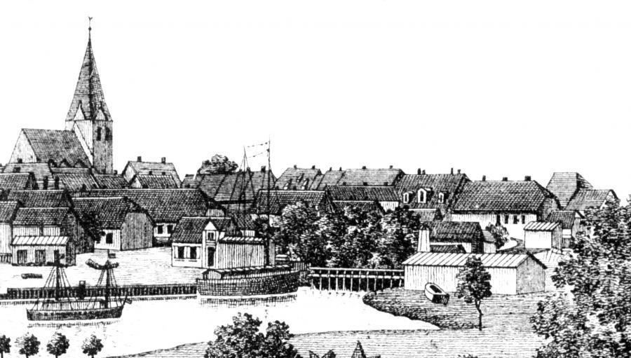 Der Hafen auf einer Ansichtskarte um 1900