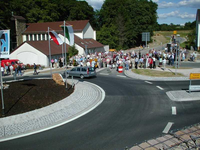 Foto: Teilortsumgehung L 3233 mit Kreisverkehrsanlage