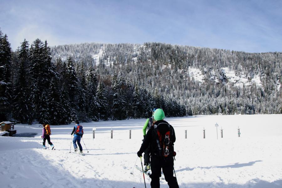 Skitour zum Kleinen Arbersee
