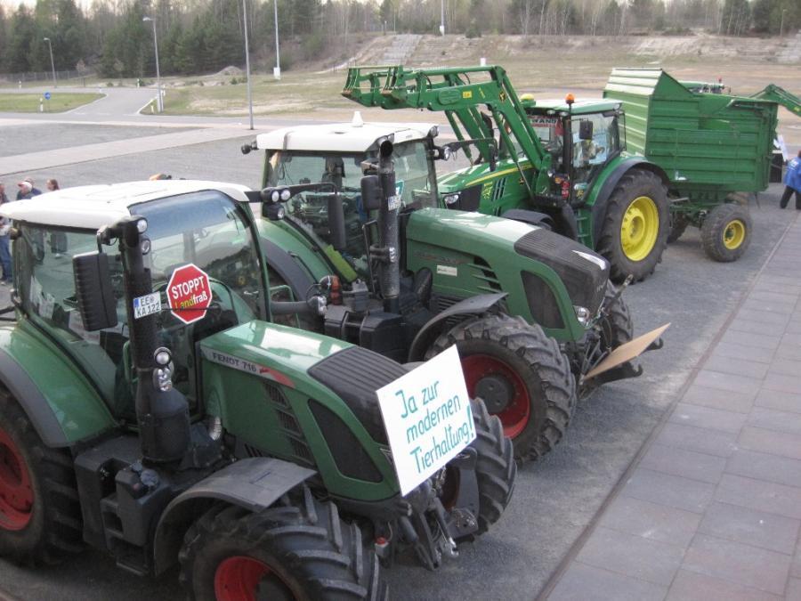 Demo mit Traktoren
