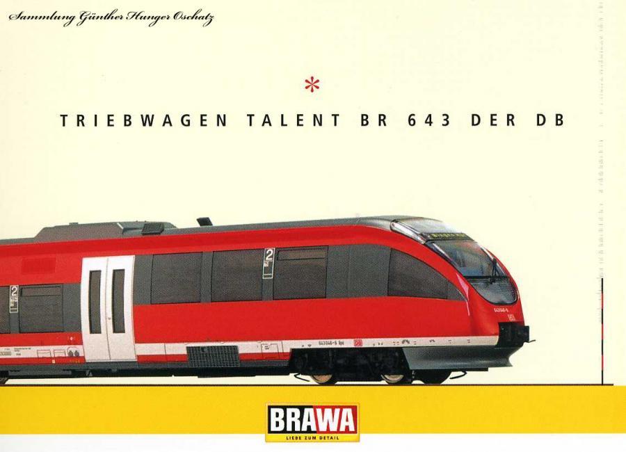 Triebwagen Talent BR 643 der DB