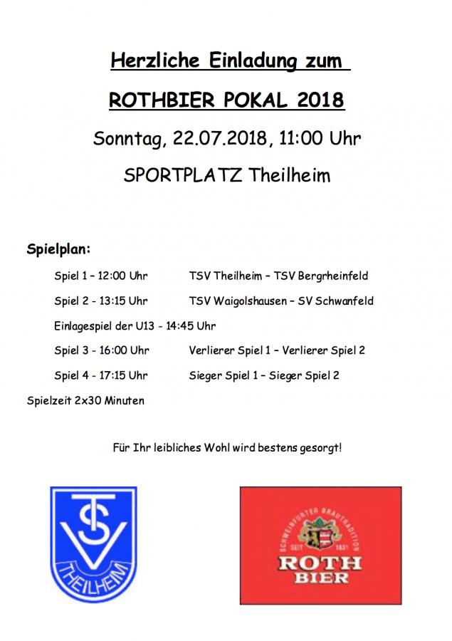 Einladung Rothbier Pokal 2018
