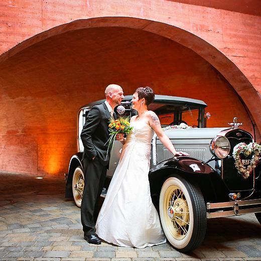 Brautpaar Poterne Schloss und Festung Senftenberg Foto- Dupski