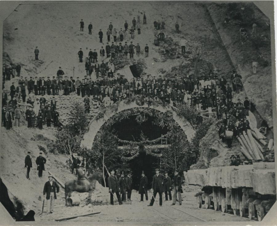 Tunneleinweihung 1869