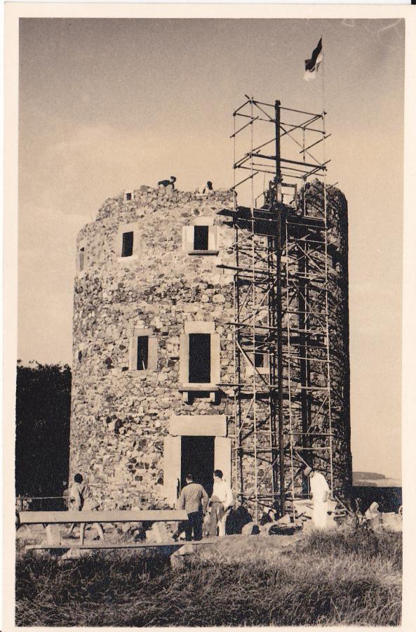 Bau des Turms 1956