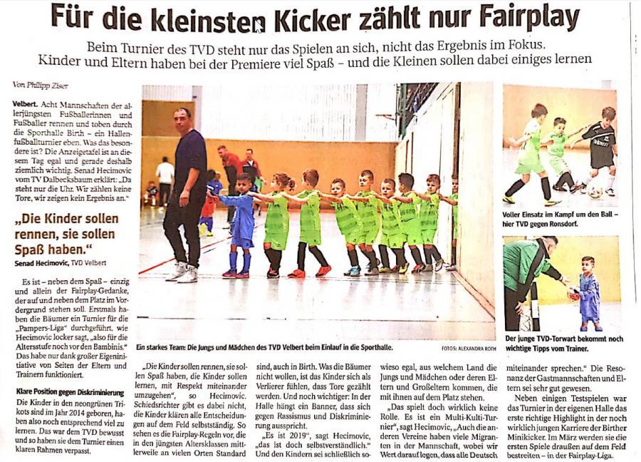 Zeitungsartikel WAZ Turnier G2