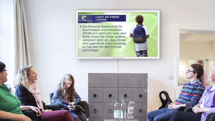 DGSP AKTUELL auf TV-Wartezimmer