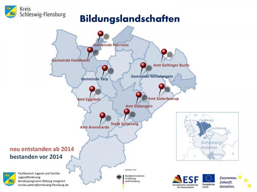 Bildungslandschaften im Kreis Schleswig-Flensburg (Stand 2018)