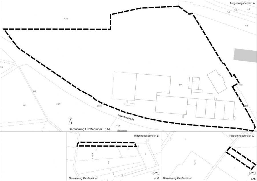 Übersichtsplan 3. Änderung B-Plan Am Tiefenfurth