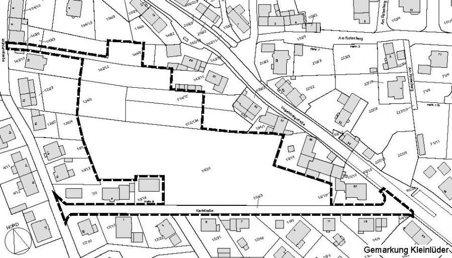 Übersicht B-Plan Nr. 4 Karlstraße - Mühlenstraße Kleinlüder