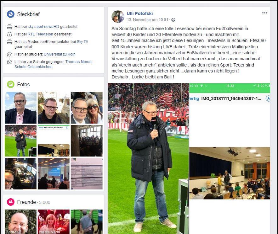 FB-Seite Ulli Potofski