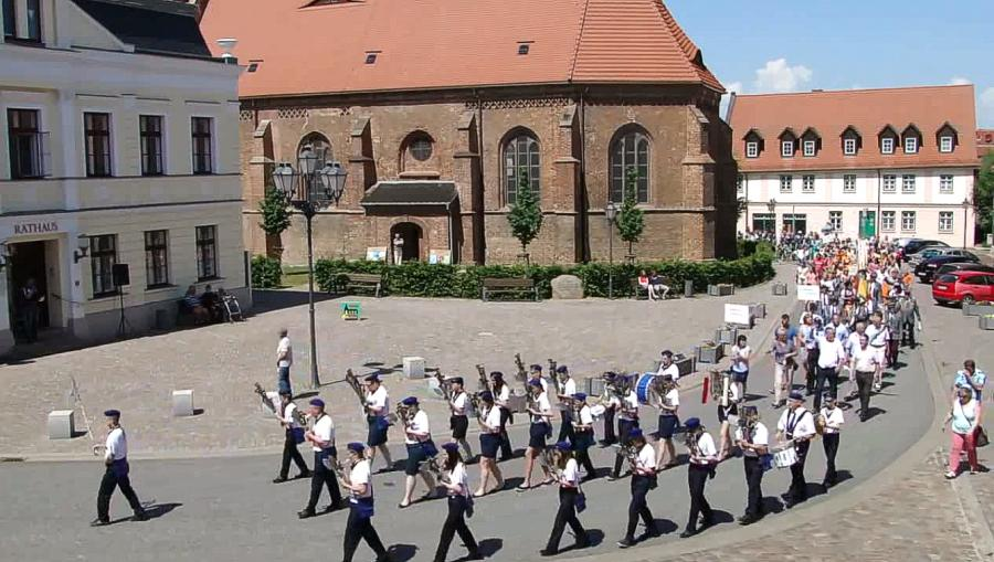 Festumzug am 4. Juni 2016 - Schalmaienkapelle Teterow