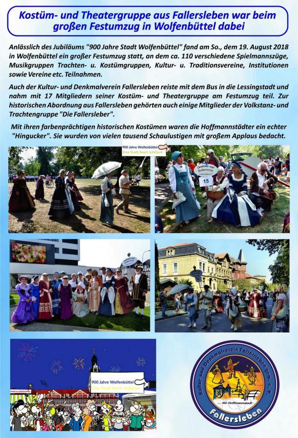 Fallersleber beim Umzug in Wolfenbüttel