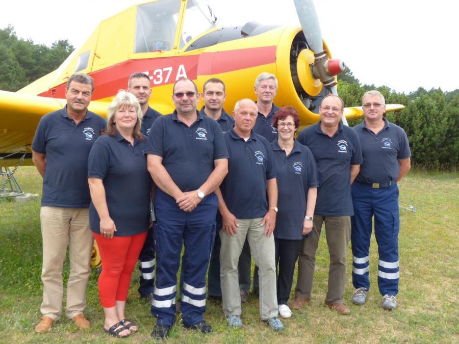 Mitarbeiter des Flugplatzes Cottbus-Drewitz