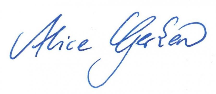 Unterschrift.Alice Gerken