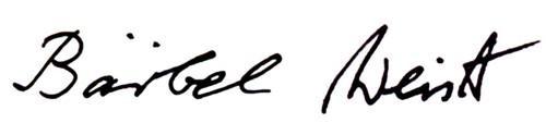 Unterschrift Bärbel Weist