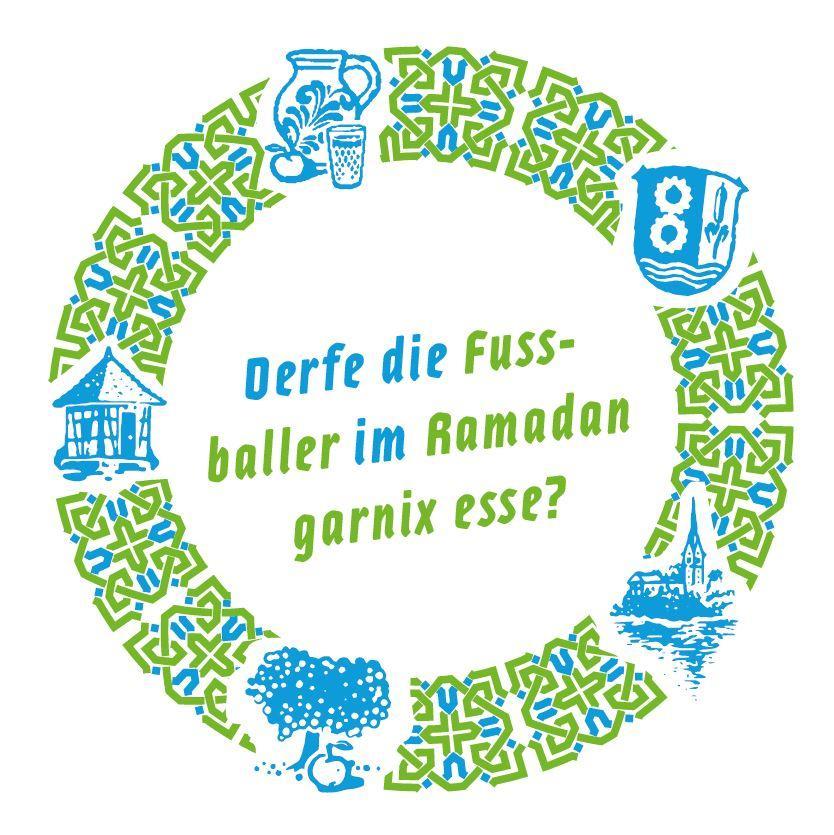 Bild zeigt Getränkeuntersetzer zu: Derfe die Fussballer im Ramadan garnix esse? Bild; Orient-Netzwerk e.V.