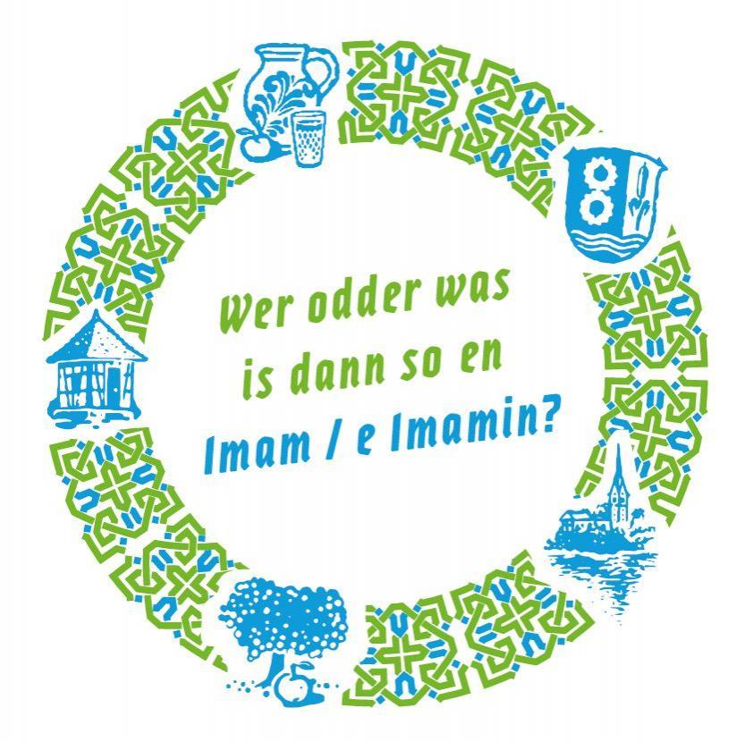Bild zeigt Getränkeuntersetzer zu: Wer odder was is dann so en Imam / e Imamin? Bild; Orient-Netzwerk e.V.