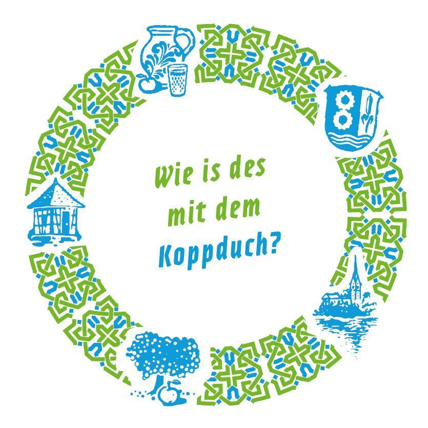 Bild zeigt Getränkeuntersetzer zu: Wie is des mit dem Koppduch? Bild; Orient-Netzwerk e.V.