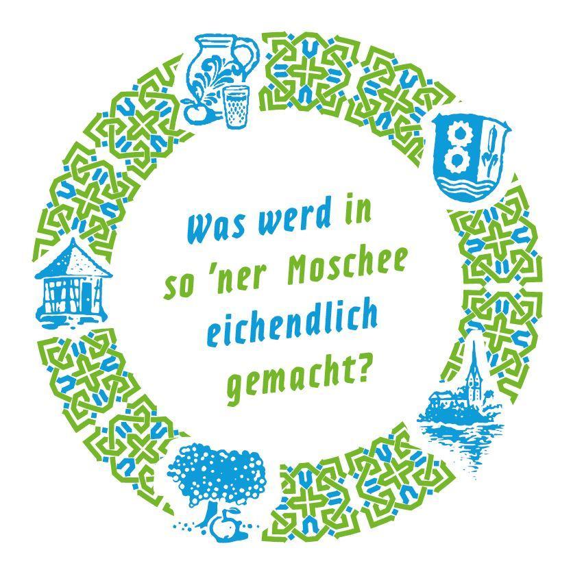 Bild zeigt Getränkeuntersetzer zu: Was werd in so ´ner Moschee eichendlisch gemacht?  Bild; Orient-Netzwerk e.V.