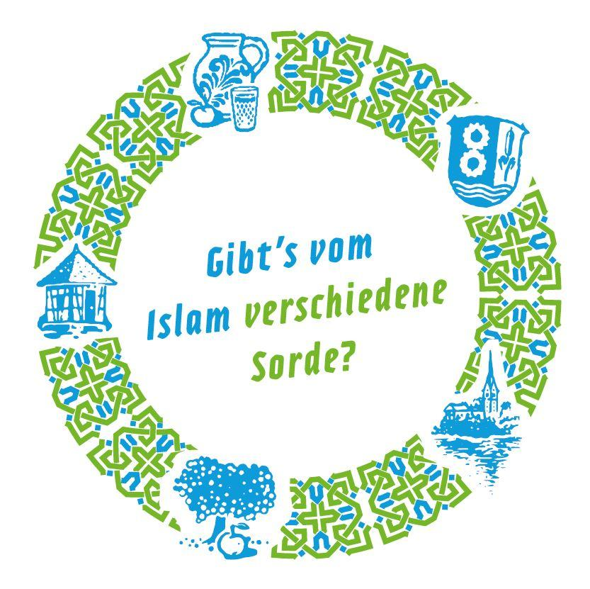 Bild zeigt Getränkeuntersetzer zu: Gibt´s vom Islam verschiedene Sorde? Bild; Orient-Netzwerk e.V.