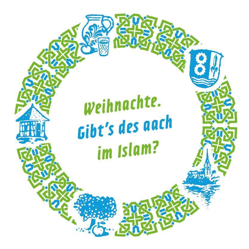 Bild zeigt Getränkeuntersetzer zu: Weihnachte. Gibt´s des aach im Islam? Bild; Orient-Netzwerk e.V.