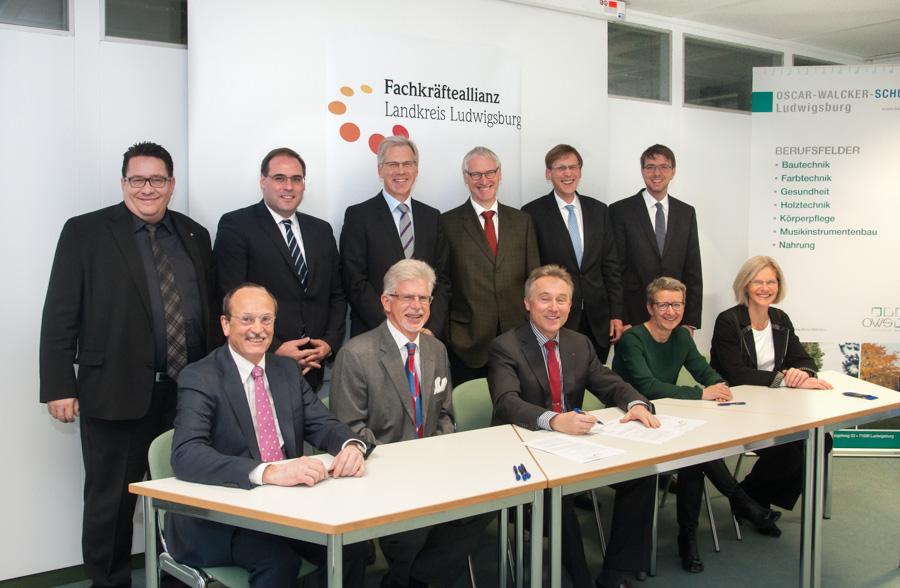 Unterzeichnung der Fachkräfteallianz am 28.11.2015