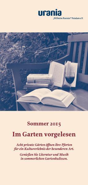 Im Garten vorgelsen 2015