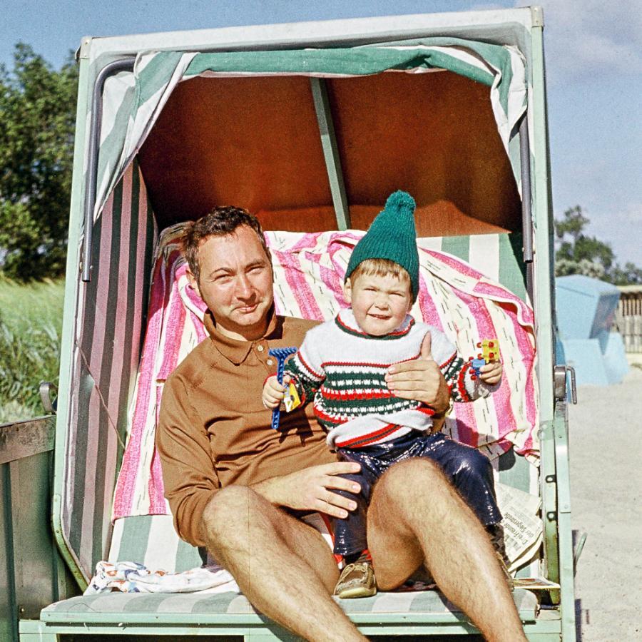 Urlaub in der DDR_Spaß im Strandkorb_Foto: privat