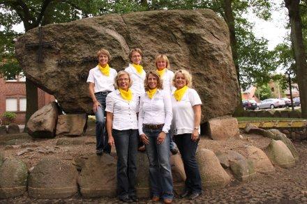 v.l Hiltrud Athmann, Gundi Brokamp, Anne Grabber, Konny Barlage, Inge Harpenau, Elisabeth Fröhle