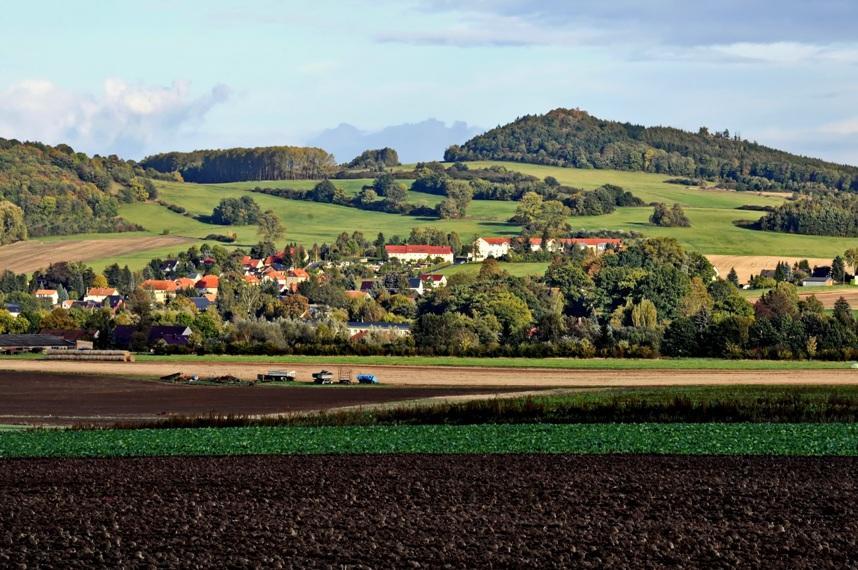 Blick zum Varnsdorfer Spitzberg