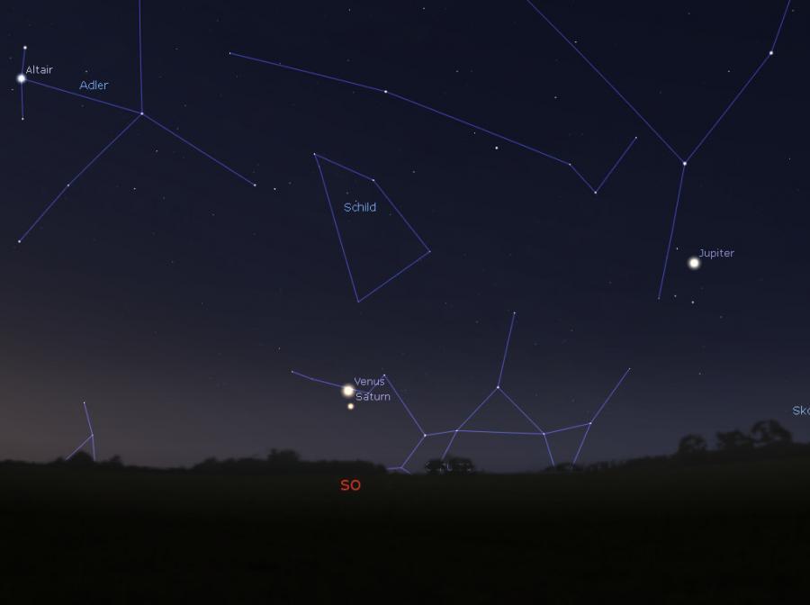 Venus mit saturn am 18.02.2019