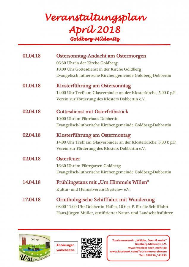 Veranstaltungen April 2018
