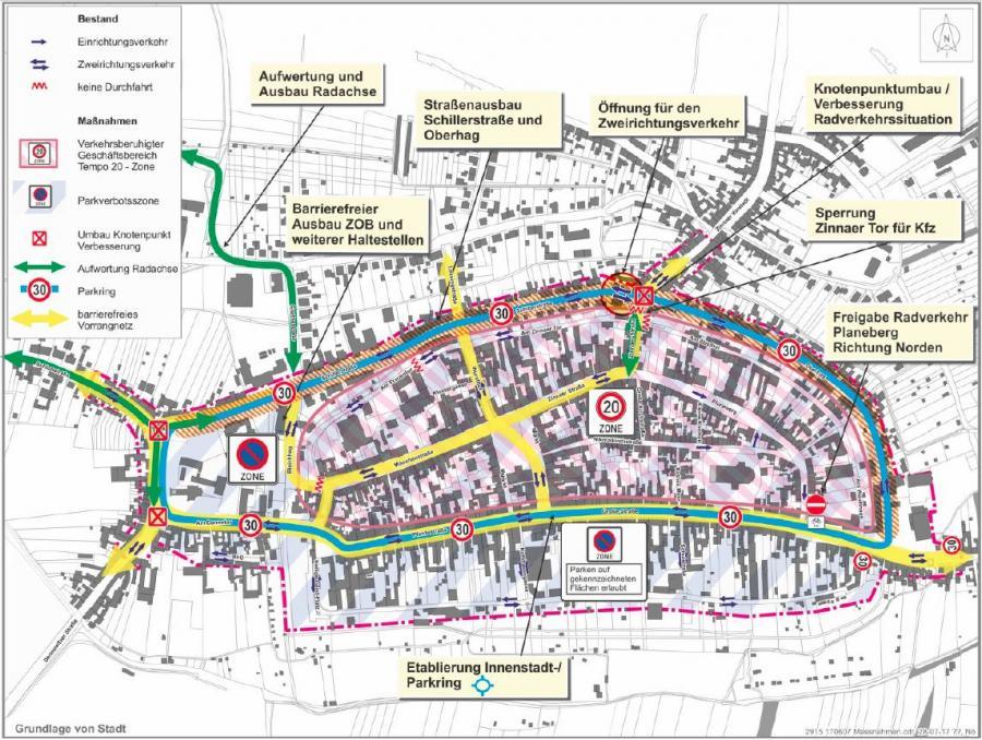Verkehrsentwicklungsplan - Abb. 7.1 Schlüsselmaßnahmen