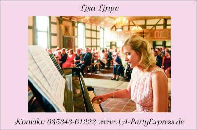 Lisa Linge Klavierspielerin - Agentur 1A-PartyExpress