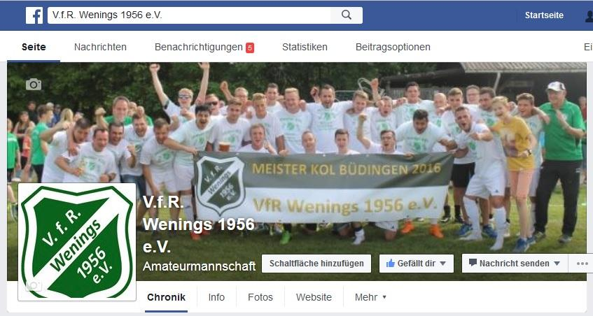 VfR Wenings bei Facebook