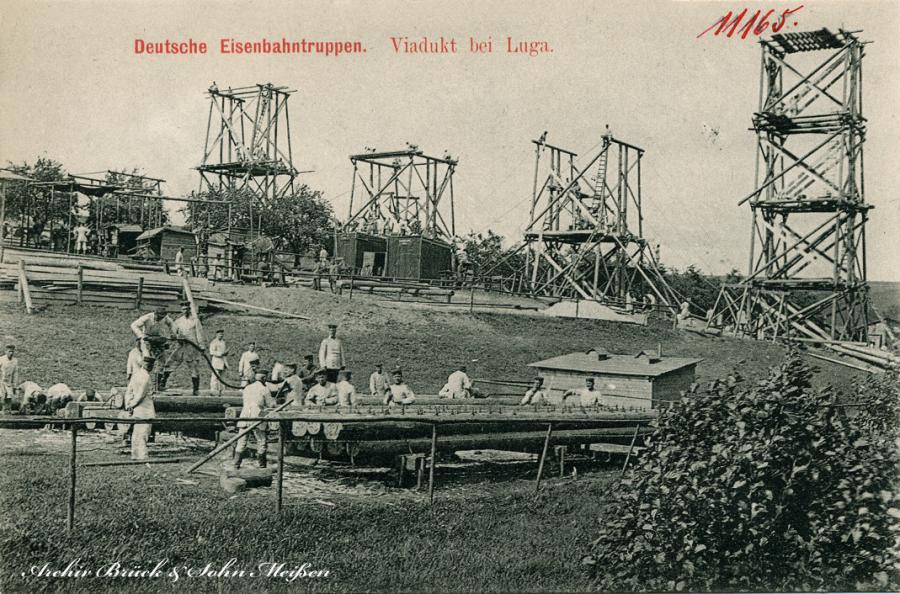 Deutsche Eisenbahntruppen  Viadukt bei Luga