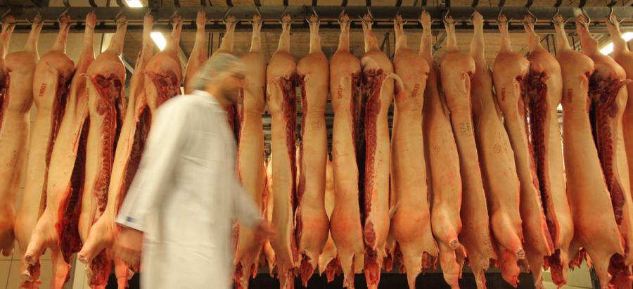 VION Schweinehälften