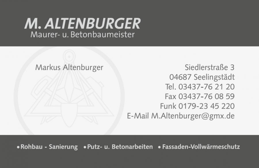 Visitenkarte Altenburger