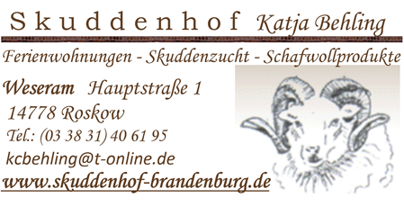 Visitenkarte Skuddenhof