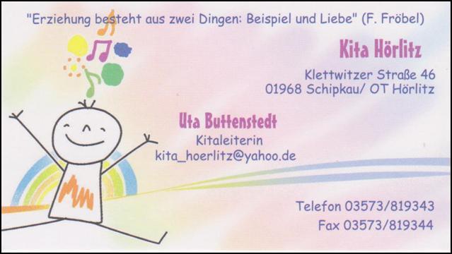 Visitenkarte Kita Hörlitz